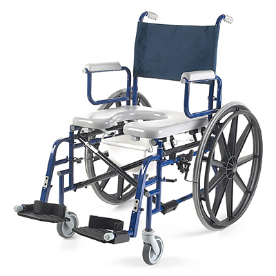 Invacare Shower Commode - DTM Tires with 18 1-2in Seat