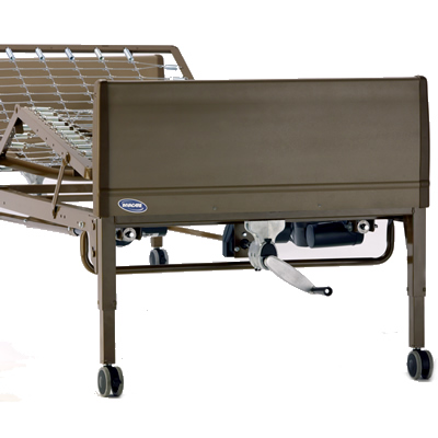Invacare Semi-Electric Bed Package: with Phomvantage Mattress and Full-Length Rails